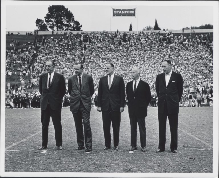 Dave Packard and his fellow inductees to the Sports Illustrated All-America football squad.