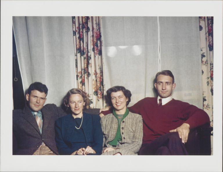 From left to right: Bill Hewlett, Flora Hewlett, Lucile Packard and Dave Packard.
