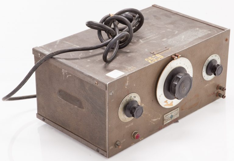A side/front view of the 200B oscillator custom designed for Walt Disney Company for use in the audio production of Fantasia.
