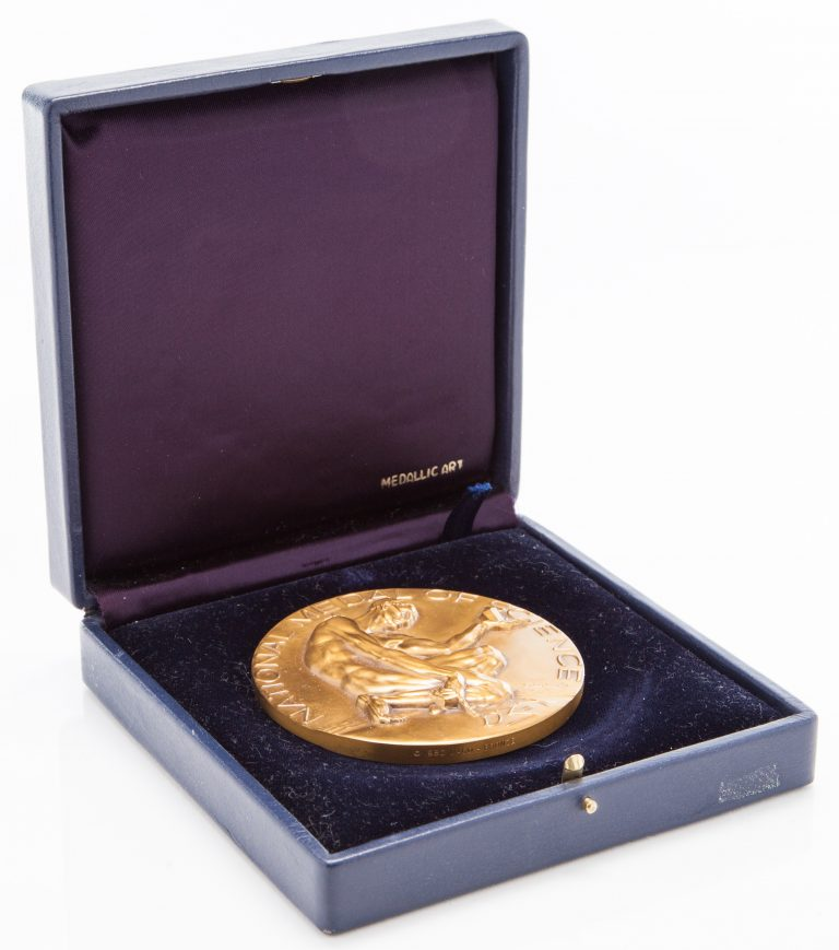 The National Medal of Science in its case.