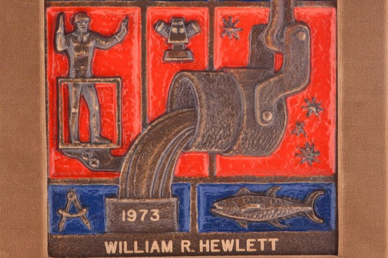 California Industrialist of the Year award bearing the name William Hewlett.