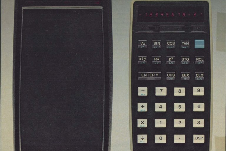 A print ad for the HP-21 calculator.