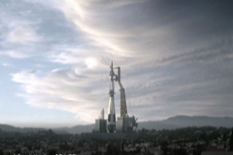 A video ad for Mission: SPACE, a Disney World ride built with Hewlett-Packard technology.
