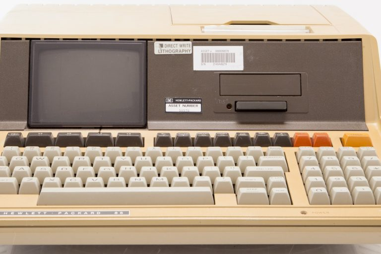 Photo of the HP 85, Hewlett-Packard's first personal computer.