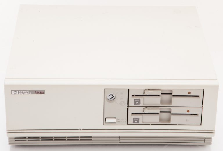 HP Vectra owned by Bill Hewlett. The Vectra was the first HP PC to use the IBM-PC platform.