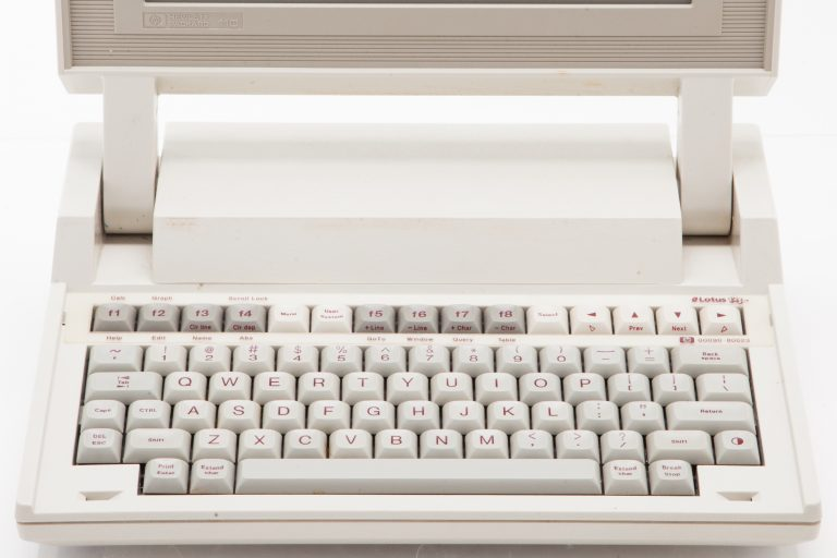 The HP 110 (also known as the HP Portable), Hewlett-Packard's first laptop.