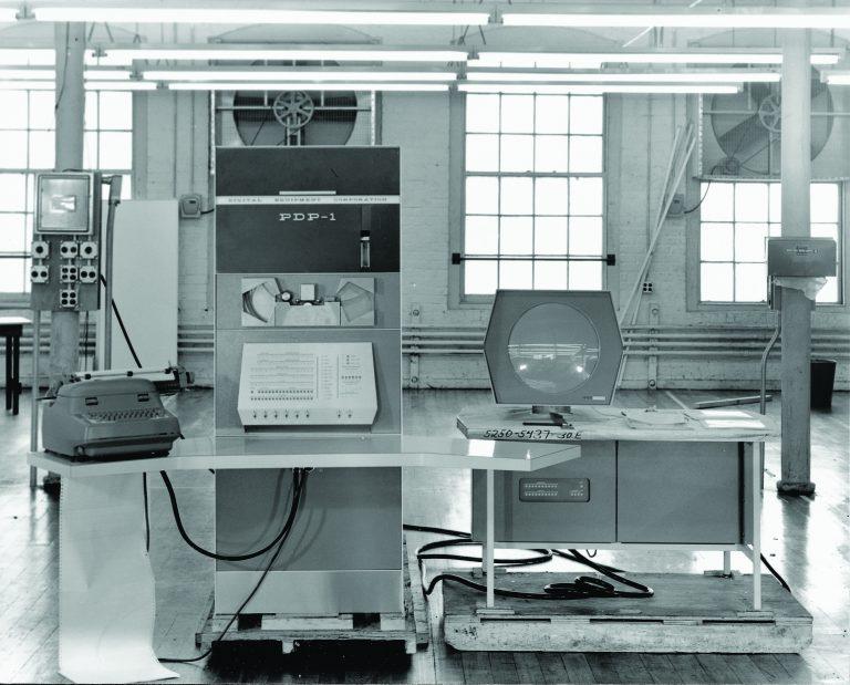 The Programmed Data Processor-1 (PDP-1) set from Digital Equipment Corporation.