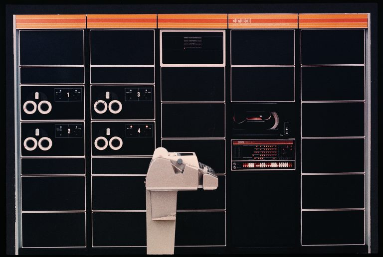 Photo of the Digital Equipment Corporation PDP 8/I, taken in 1968.