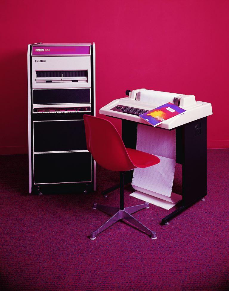 A photo of Digital Equipment Corporation's Programmed Data Processor-11 (PDP-11) taken in 1972.