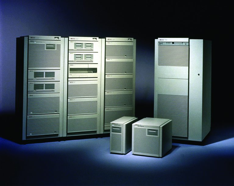 Examples of data center systems adapted from HP's 3000 and 9000 product lines.
