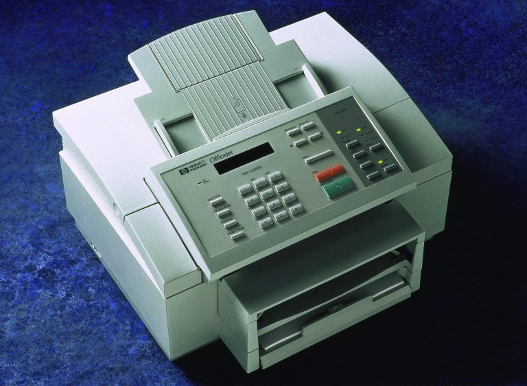 HP OfficeJet multi-purpose printer (printer-fax-copier).