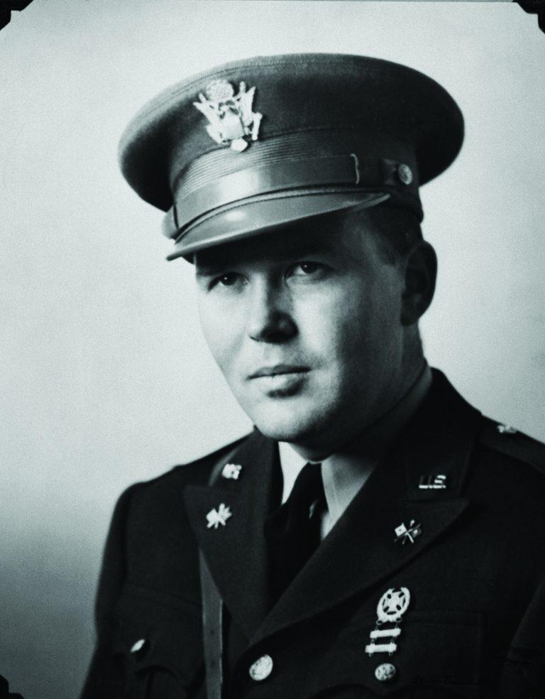 Photo of Bill Hewlett in Army dress uniform taken in 1943.