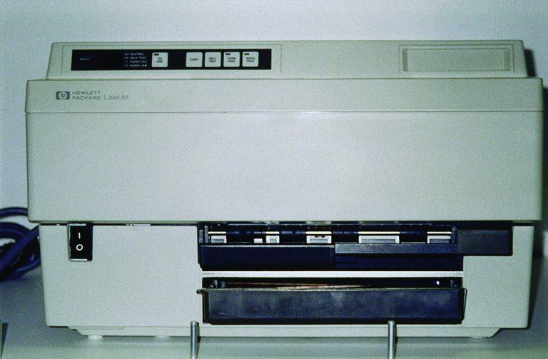Photo of the HP 2686 LaserJet printer.
