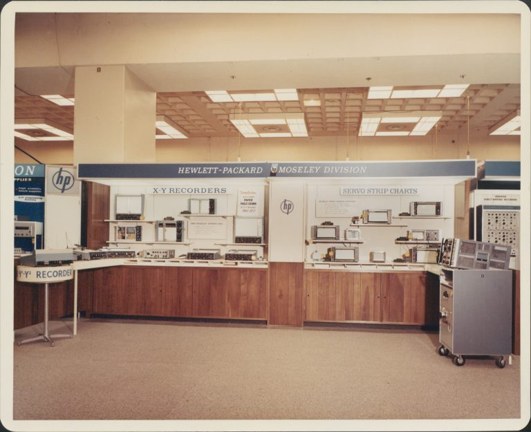 Trade show display for the products of Hewlett-Packard's Moseley Division.