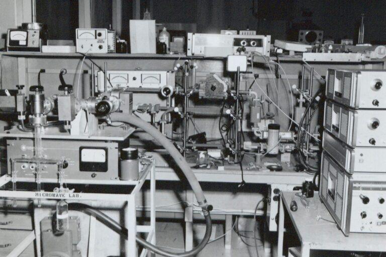 Microwave spectroscopy gear that belonged to Hewlett-Packard engineer Howard Harrington.