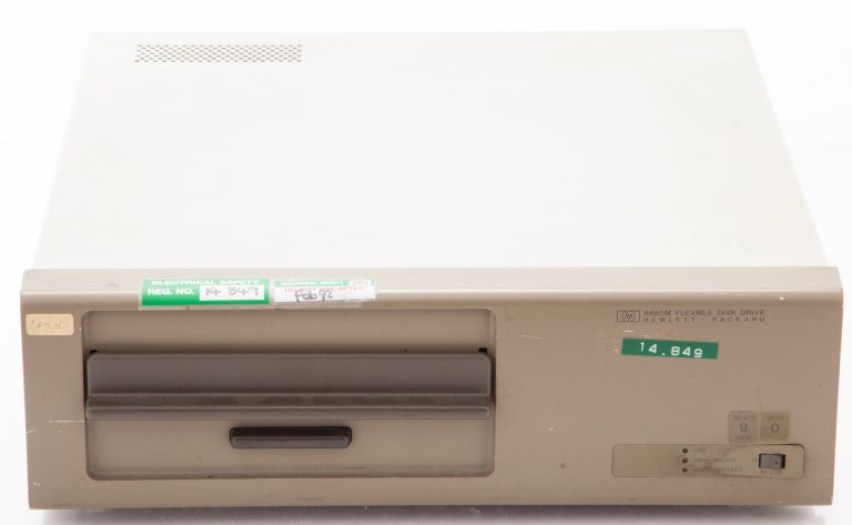 Front of the HP 9855M floppy disk drive.