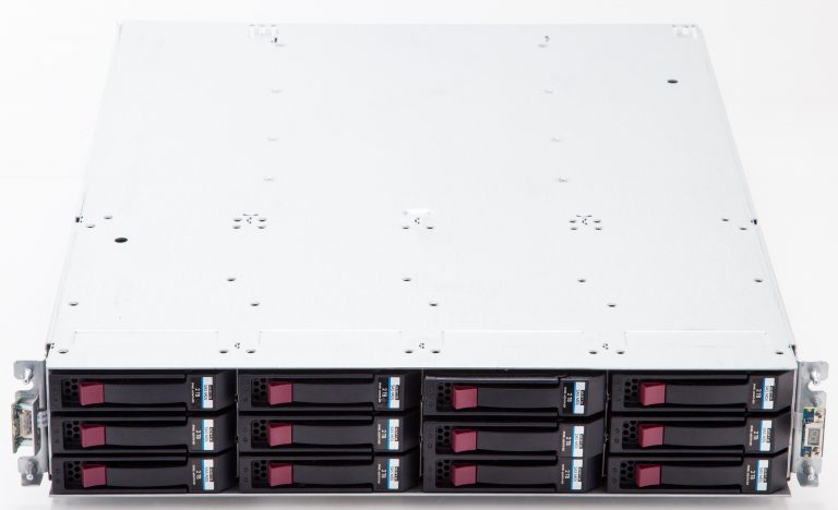 Front of the HP B6200 48TB StoreOnce Backup System.