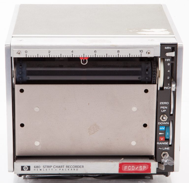 Front of the HP 680 Strip Chart Recorder.