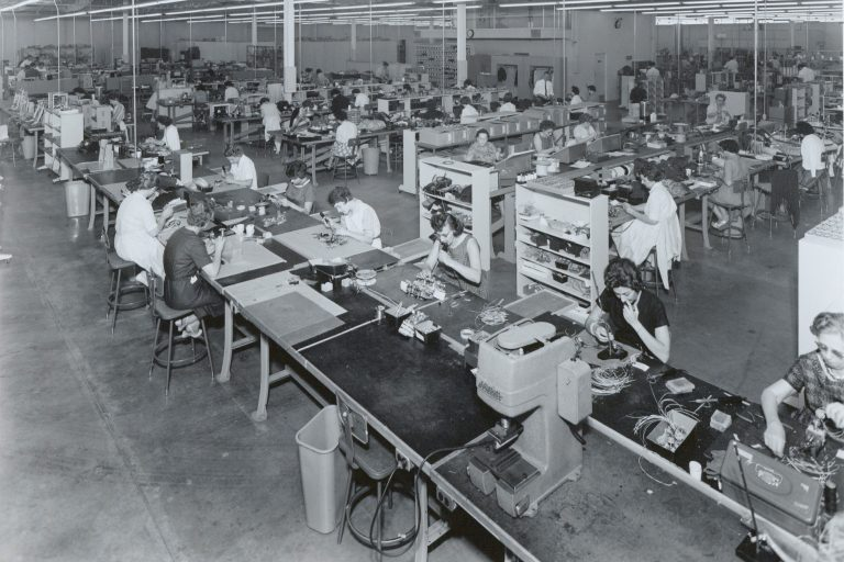Photo of F.L. Moseley Company's production line.