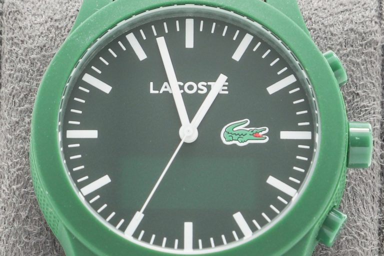 Green smartwatch created by Lacoste in collaboration with Hewlett-Packard.