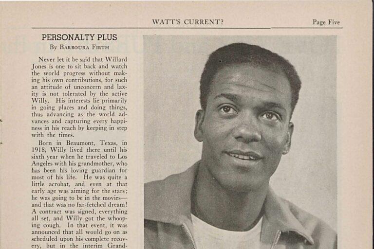 A Watt's Current article on Willard Jones.