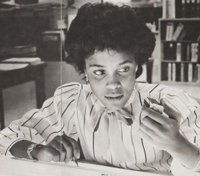 MIT student Cheryl Whiteman working at Hewlett-Packard.