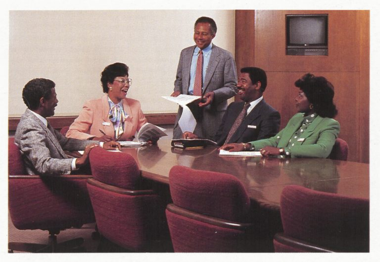 Aaron Kennedy, Bess Stevens, Tony G. Coleman, Claude Robinson Jr. & Alice Morrison of the Black functional managers network.
