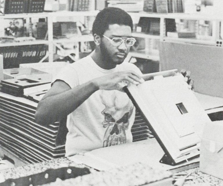 Pettus Hickman working at Hewlett-Packard as part of the FAME program in 1978.