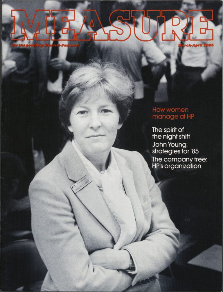 Carolyn Ticknor on the cover of the March-April 1985 edition of Measure.