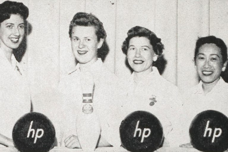 A team of HP employees who competed in the 40th Annual Women?s International Bowling Congress in 1958.